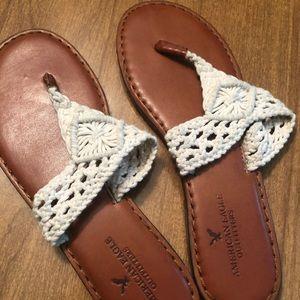 American Eagle Crochet Flip Flops